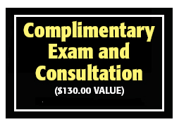 complimentary exam and consultation